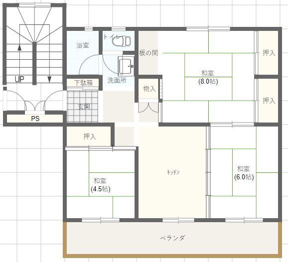 窪田B棟C棟6-6-4.5