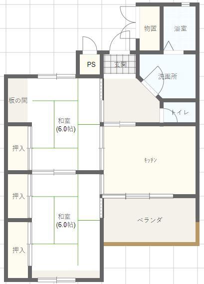 大田町3DK 洋